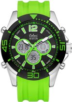 Colori Urban 5-CLD015 - Horloge - siliconen band - groen - 47 mm