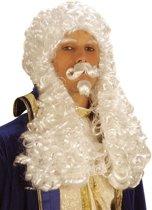 Witte pruik Frans I voor mannen - Verkleedpruik