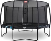 BERG Trampoline Champion Black Limited Edition + Safetynet Deluxe 330 cm - met Airflow - zwart