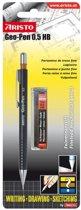 vulpotlood Aristo Geo Pen zwart 0,50 mm op blister