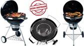 Tepro San Francisco Houtskoolbarbecue - Zwart - Roestvrijstaal