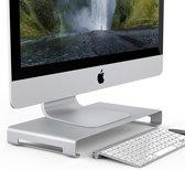 Orico - Laptop/Desktop Houder - Hoogwaardig Aluminium - Mac Style - Voor een goede lichaamshouding en een georganiseerd bureau - Zilver