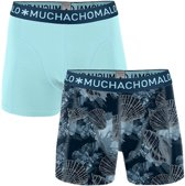 MuchachoMalo - Heren 2-pack Boxershorts Printed Coral Lichtblauw - L