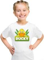 Ducky de eend t-shirt wit voor kinderen - unisex - eenden shirt L (146-152)