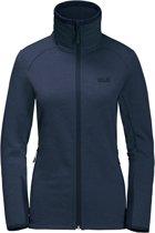 Jack Wolfskin Skyland Jacket Women - dames - fleecevest - maat L - blauw