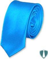 Lichtblauwe stropdas skinny