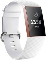 123Watches.nl Fitbit charge 3 sport wafel band - wit - SM