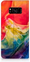 Boekhoesje Samsung S8 Watercolor Dark
