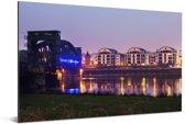 Architectuur in de Duitse stad Maagdenburg Aluminium 90x60 cm - Foto print op Aluminium (metaal wanddecoratie)