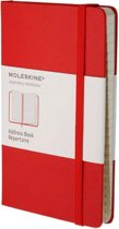 Moleskine Address Book - Large - Hard Cover - Red