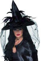 Luxueuze heksenhoed voor Halloween voor volwassenen - Verkleedhoofddeksel - One size