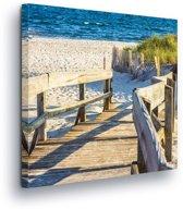 Beach Canvas Print 80cm x 80cm