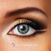 Kleurlenzen 'Glossy Blue' jaarlenzen inclusief lenzendoosje | blauwe contactlenzen Partylens®
