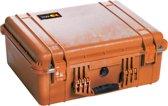 Pelibox 1550 met schuim inzetstuk - Oranje