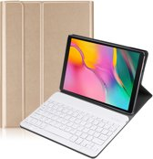 Lunso - afneembare Keyboard hoes - Samsung Galaxy Tab A 10.1 (2019) - Goud