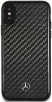 Mercedes-Benz Telefoonhoesje - Apple iPhone X / Xs - Real Carbon Black