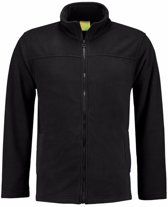 Zwart fleece vest met rits voor volwassenen 2XL (44/56)