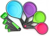 Maatlepels en cups siliconen (8 stuks)