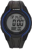 All Blacks 680279 digitaal horloge 45 mm 100 meter zwart/ blauw