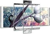 Glas schilderij Bloemen, Tulpen | Grijs | 170x100cm 5Luik | Foto print op Glas |  F007819