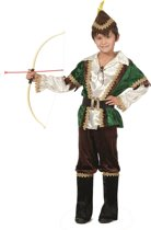 Carnavalskleding Koningsmantel rood met bont kind Maat 116