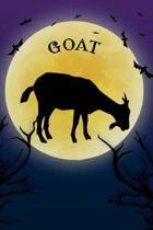 Goat Notebook Halloween Journal