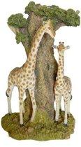 Waxinelichthouders bovenin boom   giraffe decoratie beeld met waxinelichthouder