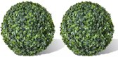 vidaXL Buxusbol kunstplant 35 cm 2 st