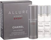 Chanel Allure Sport Homme Eau Extrême - 3x20 ml - Eau De Toilette - For Men
