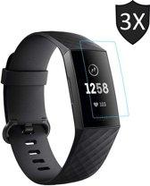 Screenprotector voor Fitbit Charge 3 van iCall - Crystal Clear - 3 stuks
