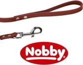 Nobby lijn gestikt leer rood 1,2 x 130 cm - 1 st
