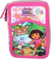 Dora Etui met 3 vakjes gevuld met schoolspulletjes