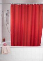Uni - Douchegordijn - Polyester - Anti Schimmel - 180x200 cm - Rood