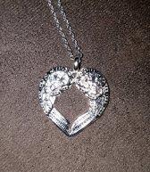 Ketting Angel wings Zilver hart Valentijnsdag