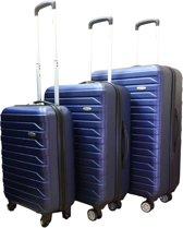 Benzi Kofferset - 3 delig - Malagon - blauw