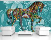 Turquoise Photomural, wallcovering