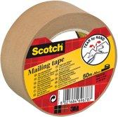 10x Scotch verpakkingsplakband, 50mmx50 m, papier, bruin