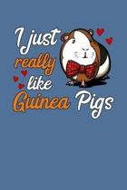 I Just Really Like Guinea Pigs: Cute Cavy Pet Notebook