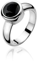 Zinzi - Zilveren Ring - Zwarte Steen - Zirkonia - Maat 62 (ZIR050Z62)
