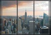 Fotobehang City New York Skyline Empire State | L - 152.5cm x 104cm | 130g/m2 Vlies