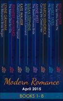 Modern Romance April 2015 Books 1-8 (Mills & Boon e-Book Collections)