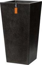 Capi Lux - pot taps vierkant II 32x32x60 - zwart