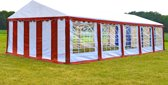 Partytent 5x10 Classic PVC Brandvertragend | Rood / wit