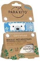 Parakito Kids Anti-Muggen Armband Polar Bear + 2 navullingen