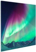 Fraai noorderlicht Glas 60x40 cm - Foto print op Glas (Plexiglas wanddecoratie)
