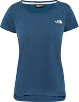 The North Face Inlux S/S Top Shirt Dames - Blue Wing Teal Dark Heather