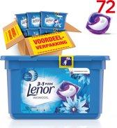 Lenor 3in1 PODS Zeebries - Voordeelverpakking 6x12 wasbeurten - Wasmiddel capsules