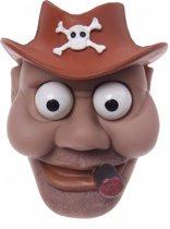 Eddy Toys sleutelhanger piraat bruin 9 cm