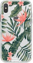Iphone X - TPU Soft Case - Back Cover telefoonhoesje - Tropical Flowers