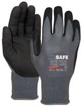 Handschoen, klushandschoen,  bouwhandschoen, industrie, handschoen transport, M-Safe Nitri-Tech Foam 14-690 handschoen maat 12